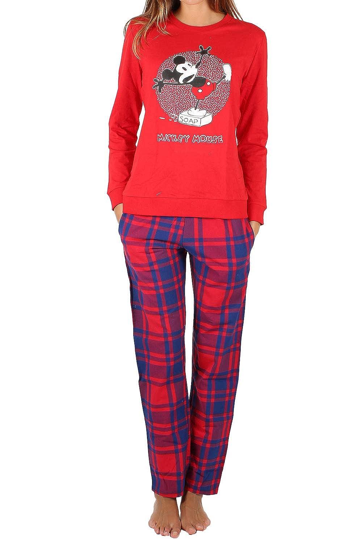 Disney Pijama Manga Larga Mickey Soap para Mujer