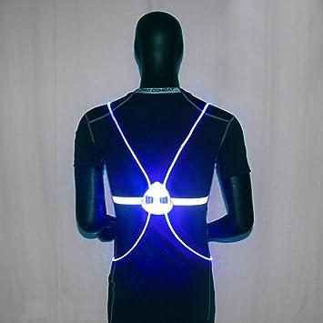 LED Reflektierende Weste für Laufen Radfahren Bekleidung Fitness & Jogging