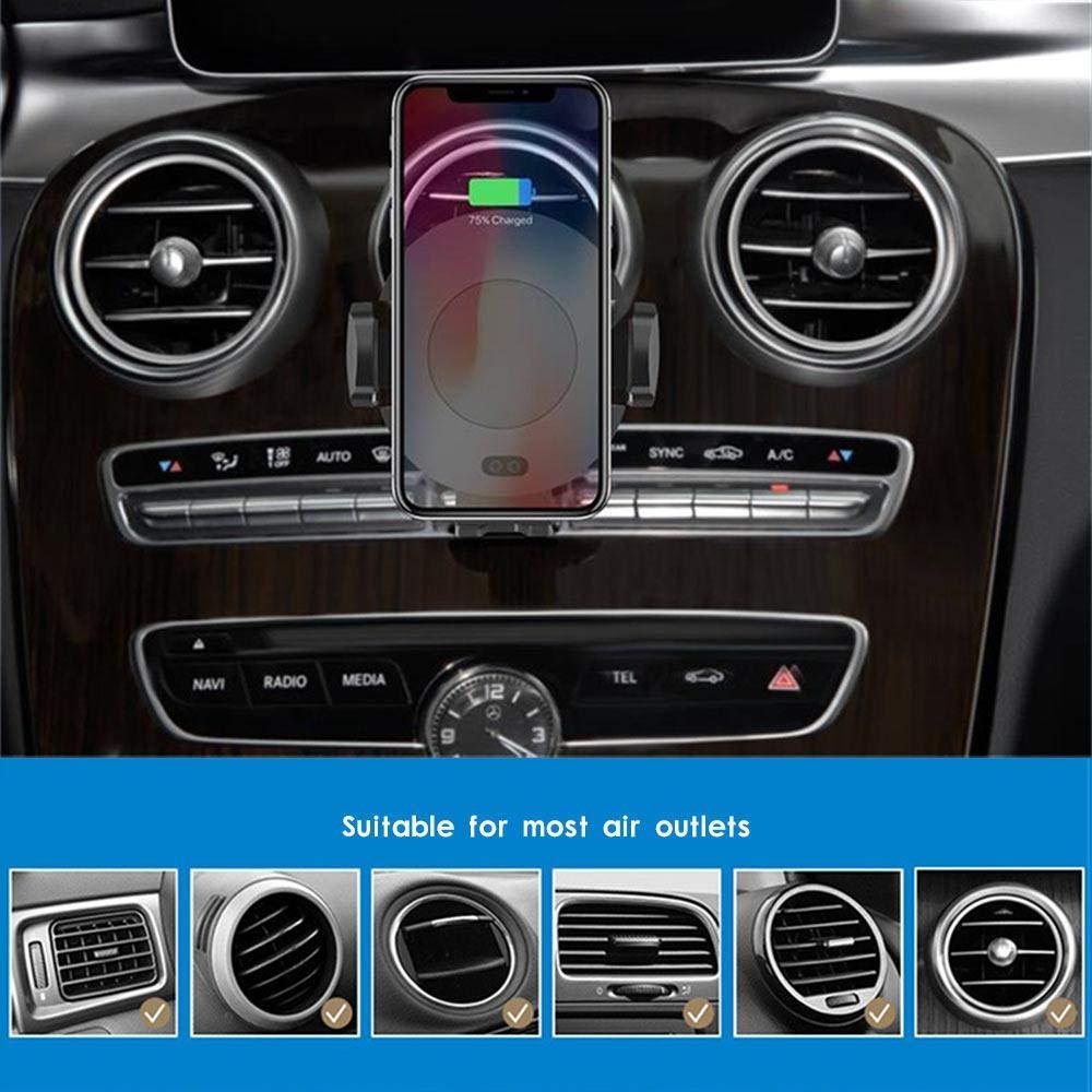 DokFin Drahtlose Autoladeger/äthalterung 360-fach drehend automatische Klemmung Drahtlose Autoladeger/ät-Entl/üftung Intelligent Sensing Drahtloses Autoladeger/ät Schnelles Aufladen