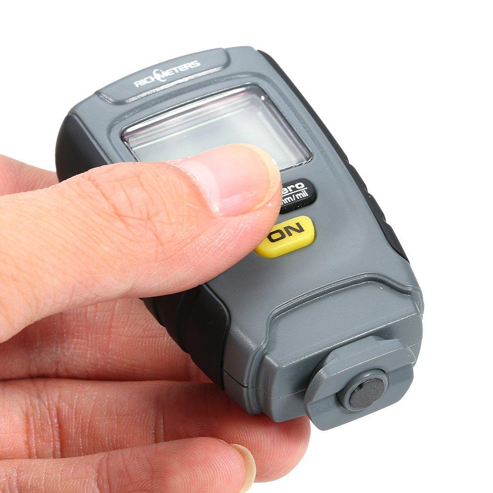 Grandey RM660 Digital Paint Coating Thickness Gauge LCD feeler gauge Tester Fe/NFe 0-1.25mm for Car Instrument Iron Aluminum Base Metal by Grandey (Image #3)