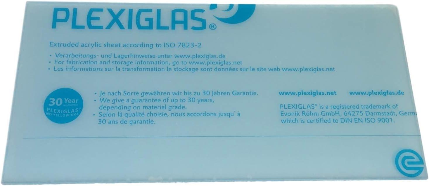 r/ésistant aux UV dans le D/écoupe foliert des deux c/ôt/és /Épaisseur 4/mm Transparent Verre acrylique//plexiglas Transparent