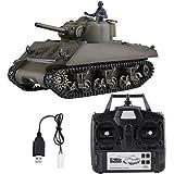 米国 US M4A3 SHERMAN RCバトル タンク RCモデルカー 模擬モデル 陸軍車両 軍隊ファン対応 HengLong 2.4G1:16 3898-1 軍事グリーン色