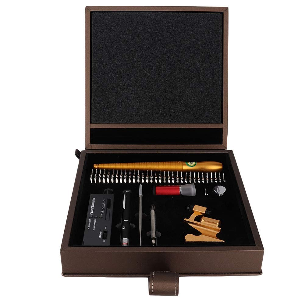 TMISHION Diamond Tester Tool, Complete Set Accuracy Professional Jewelry Tester for Novice and Expert, Diamond Gold Gems Identification, Diamond Tester Pen by TMISHION