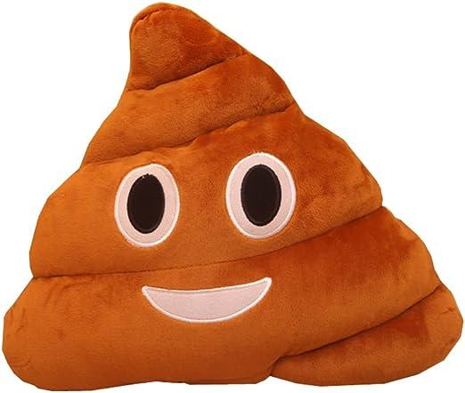 New Soft Emoji Poo Shaped Stuffed Throw Pillow Cushion Smile Face Sofa Decor Hot