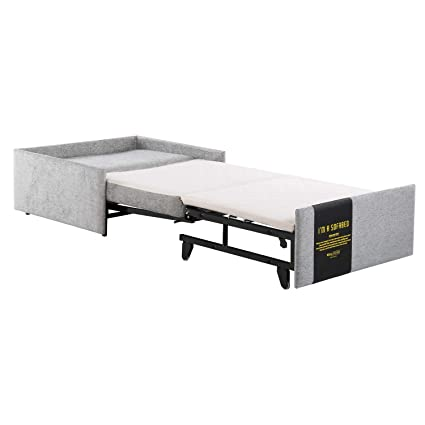 Groovy Euradesign Sleeper Ottoman Guest Bed Ottoman For Footrest Perfect For Small Space Gmtry Best Dining Table And Chair Ideas Images Gmtryco
