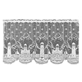Heritage Lace Lighthouse 60-Inch Wide by 24-Inch Drop Tier, White