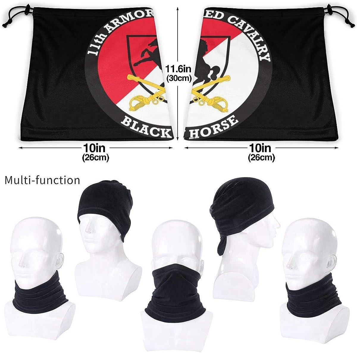 Unisex 11th Armored Cavalry Regiment Black Horse Neck Warmer Gaiter Windproof Ski Mask Face Shields Magic Scarf