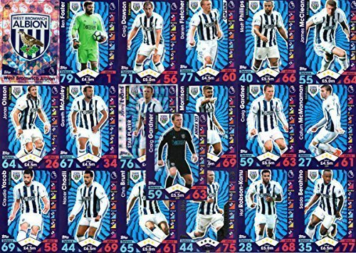 Price comparison product image MATCH ATTAX 2016 / 17 WEST BROM / WBA FULL BASE TEAM SET inc BADGE,  AWAY KIT,  STAR PLAYER by Match Attax