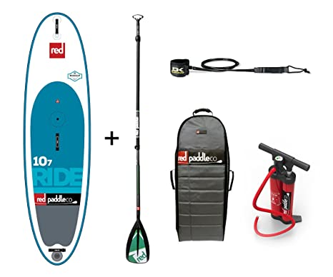 Red Paddle Co 2017 107 Ride WINDSUP Inflatable Stand Up Paddle Board + Bag, Pump, Paddle & LEASH