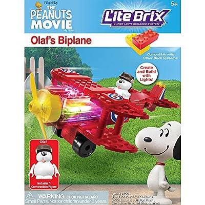 Lite Brix The Peanuts Movie Olafs Biplane: Toys & Games