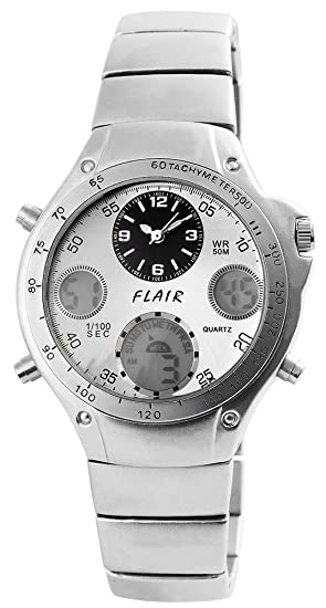 Flair Hombre Digital Reloj de pulsera con mecanismo de cuarzo 200422500143 y carcasa de metal pulsera