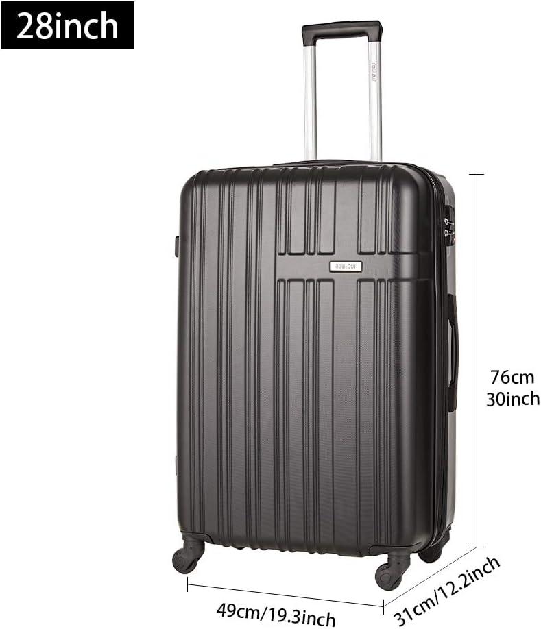 M Schwarz Newtour Hartschalen-Koffer Trolley Rollkoffer Reisekoffer Doppelrei/ßverschluss f/ür 25/% mehr Volumen Handgep/äck mit TSA-Schloss und 4 Rollen