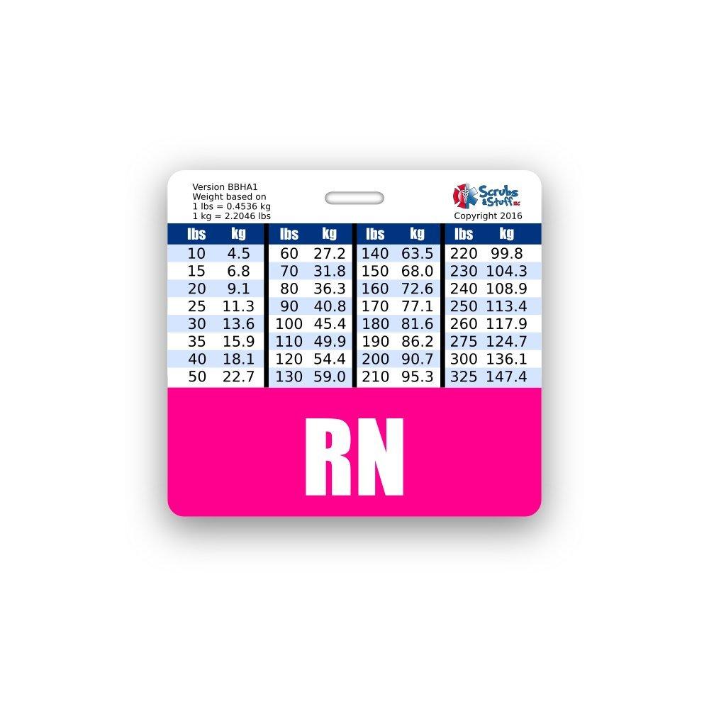 Amazon rn purple badge buddy horizontal w height weight rn badge buddy horizontal w height weight conversion charts pink nvjuhfo Image collections