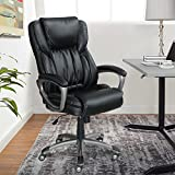 Serta Works Executive Office Chair, Bonded Leather, Black