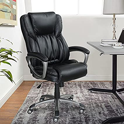 O Serta Works Executive Office Chair Bonded Leather Black
