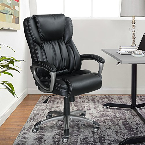 Serta Works Executive Office Chair, Bonded Leather, (Fits All Executive Conference Chair)