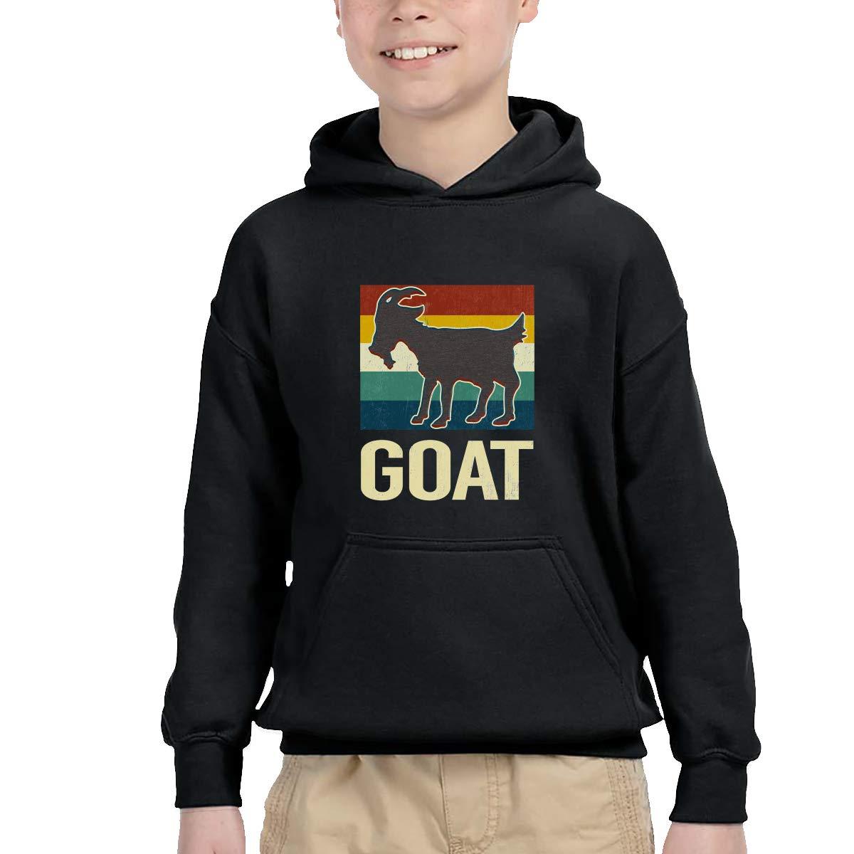 Sakanpo Vintage Goat Pullover Hoodie Sweatshirt Teens Hooded for Boys Girls