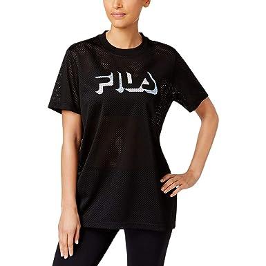 04fad65e4eb740 Amazon.com  Fila Women s Liona Mesh T-Shirt  Clothing
