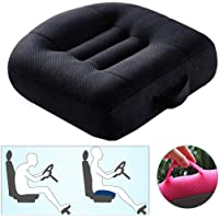 Car Booster Seat Cushion Heightening Height Boost Mat, Driver Booster seat car seat Cushion,Angle Lift Seat Cushions,Effectively Increase The Field of View by 12cm,for Car Office,Home (Black)