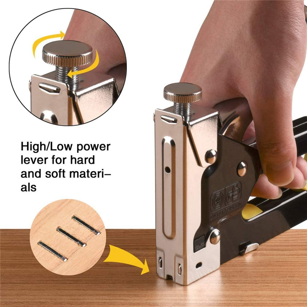 Kampre 3-Wege-Tacker f/ür den manuellen Hochleistungs-Tacker mit Heftklammern und N/ägeln zur Befestigung des manuellen Tacker-Werkzeugs