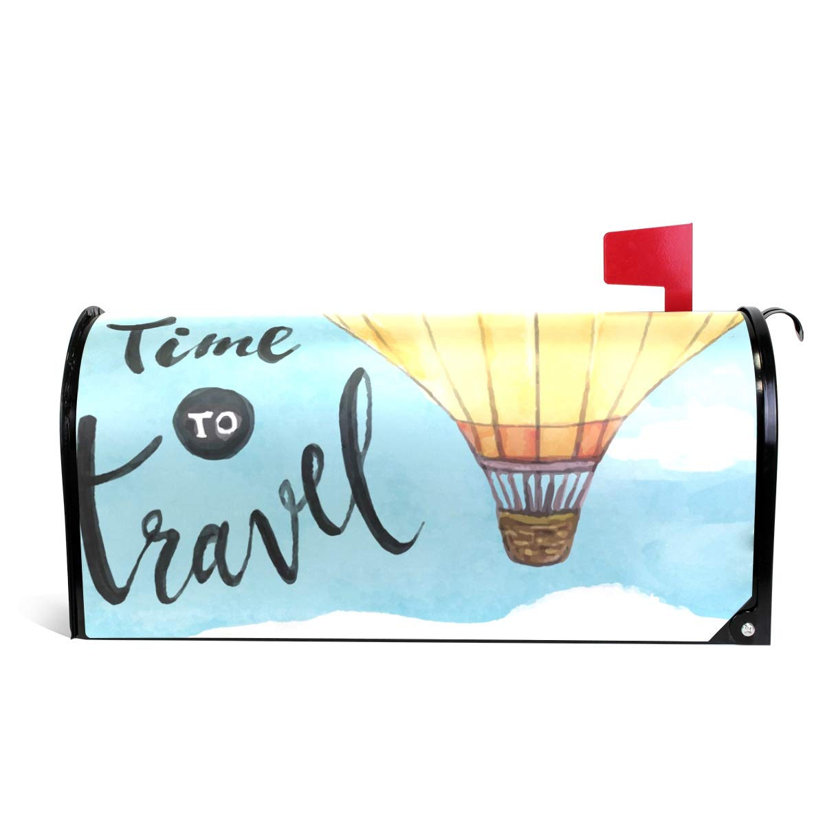 LORVIES Hot Air Balloon Magnetic Mailbox Cover Oversized 25.5 x 18 Inch