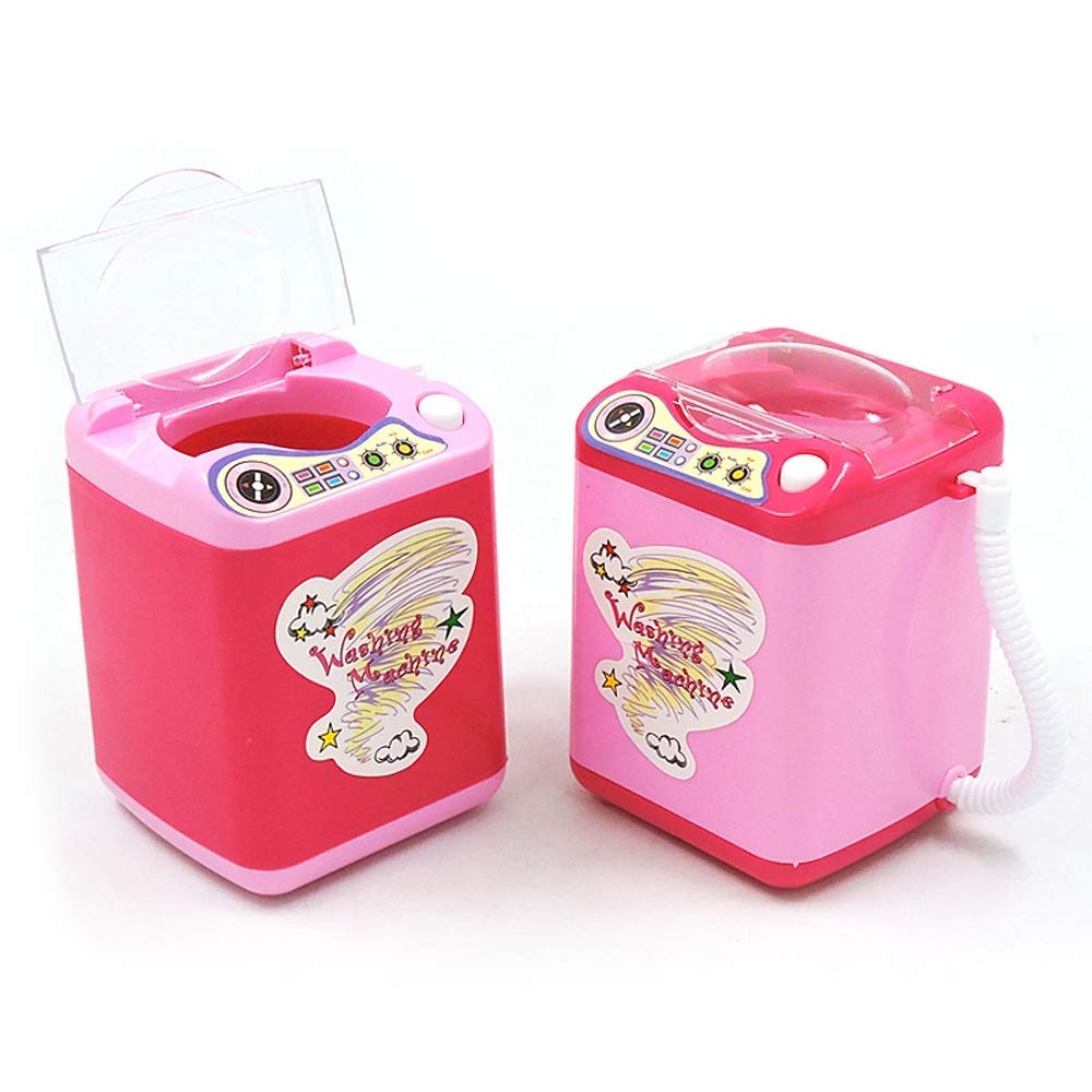 Sweetdecor Makeup Brush Cleaner Device Automatic Cleaning Washing Machine Washing Machine Toys Baby Home Miniature Laundry Playset Mini Pretend Play Toy for Girls//Boys//Adults