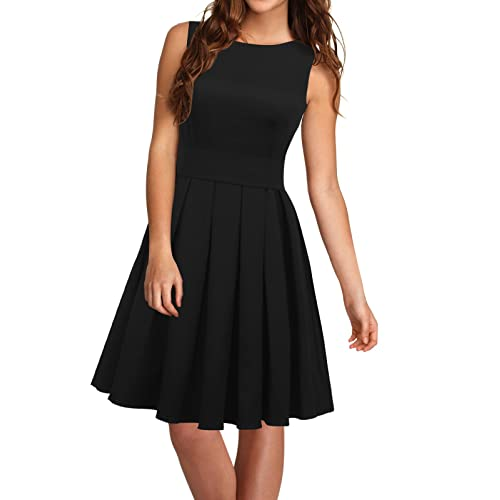 iLover Womens Cocktail Casual Dress 10 Black1