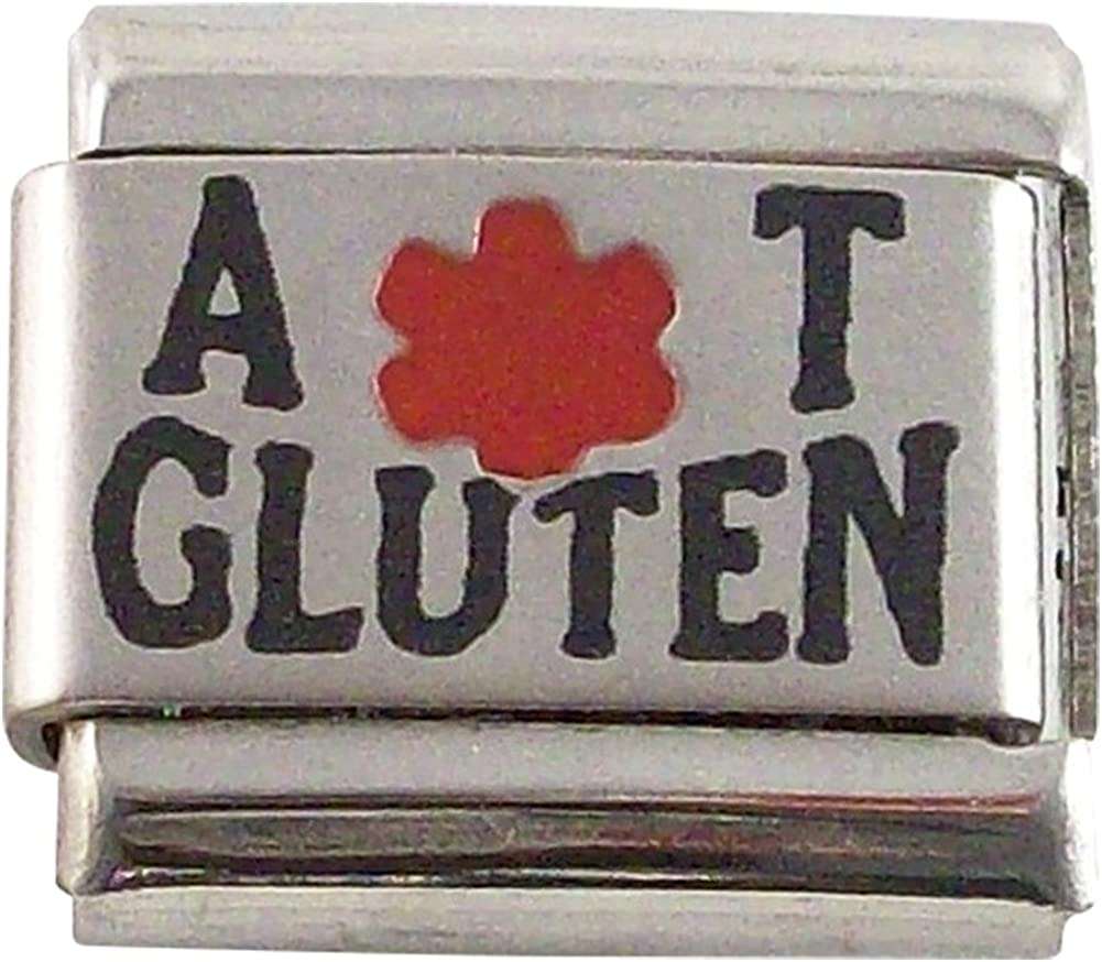 Allergic to Gluten Medical Alert for Italian Charm Bracelets Wallet Card