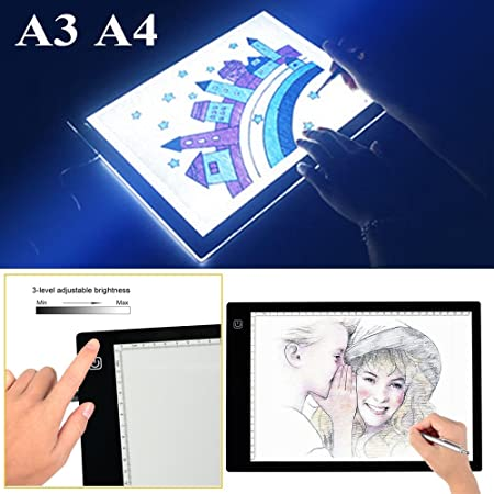 CUSCO A3/A4 Mesa Luminosa LED Portátil Tablet luz Dibujo Photo luminosidad Ajustable USB, A4: Amazon.es: Hogar