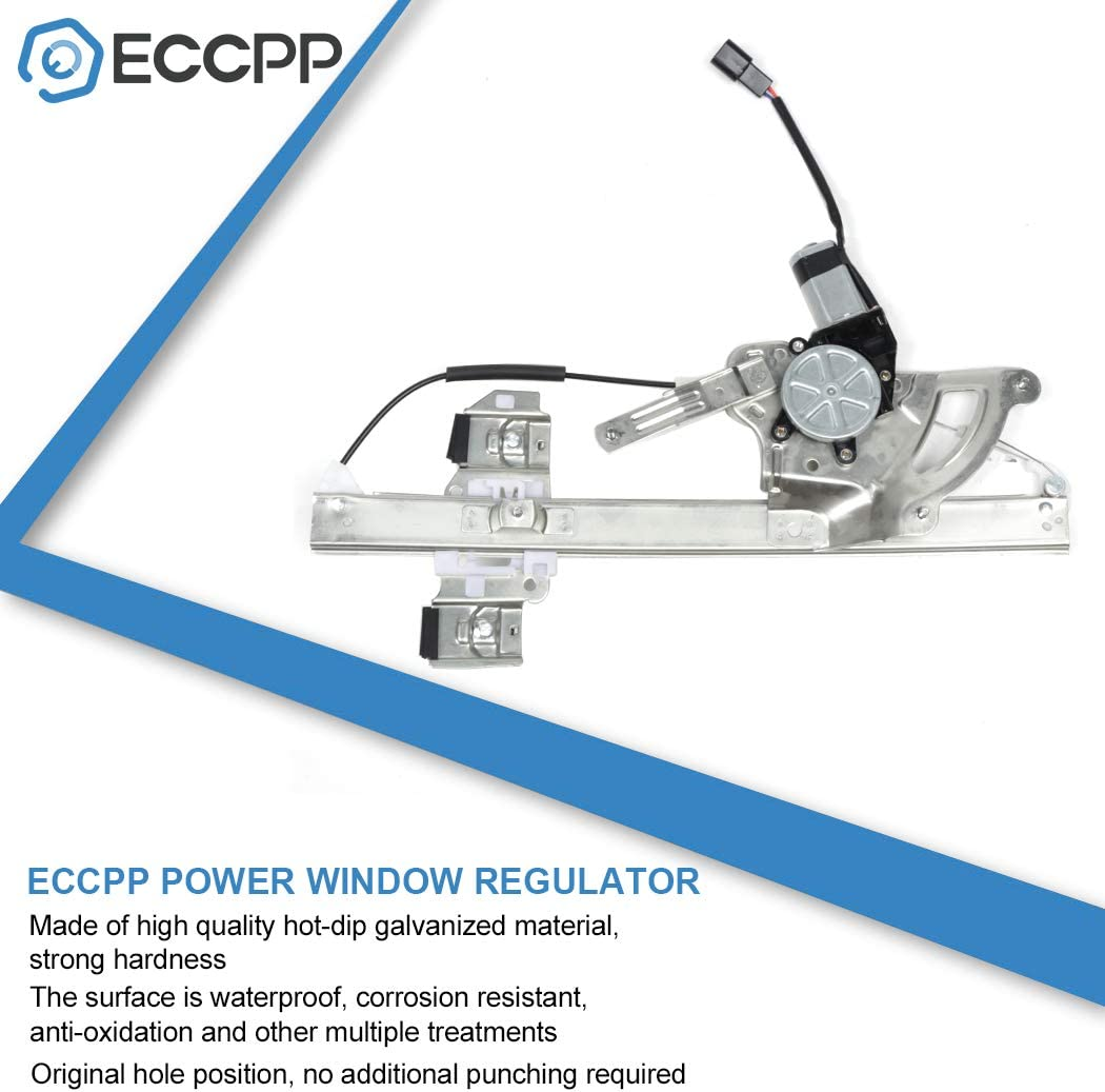 ECCPP Front Left Driver Side Power Window Regulator with Motor Assembly Replacement fit for 2000-2005 Pontiac Bonneville 25750514