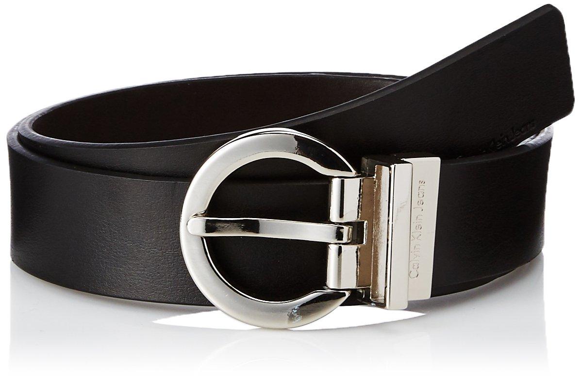 Calvin Klein Women's Reversible Belt,Black/Brown,Large