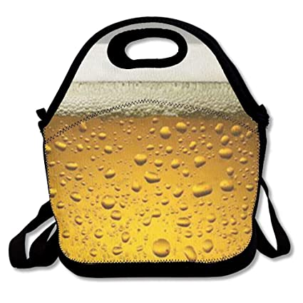 Amazon com: Beer Wallpaper Lunch Bags Insulated Travel