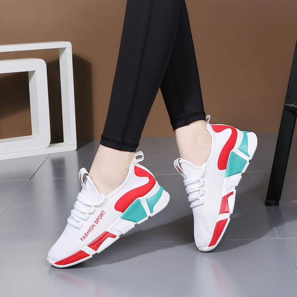 YAGEYAN Women Dance Shoes Square Dance Sports Shoes High-Heeled Shoes Soft Bottom Shoes Mesh Shoes Sailor Dance Shoes