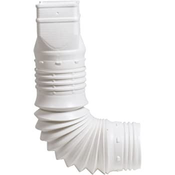 Flex Drain 85010 Downspout Extension White Downspouts