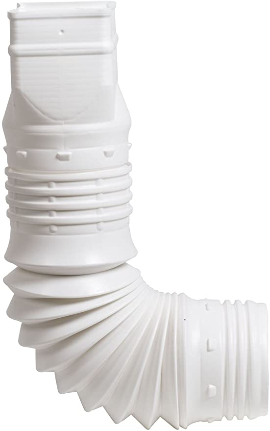 Amazon Com Flex Drain 53127 Flexible Downspout Extension Adapter 3 By 4 By 4 Inch White Automatic Lawn Irrigation Tubing Garden Outdoor
