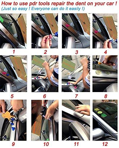 Weylon Paintless Dent Repair Pdr Dent Puller Kit Slide Hammer Kits Hail Repair Kit Medium Dent Repair PDR Kit (53pcs) by Weylon (Image #2)