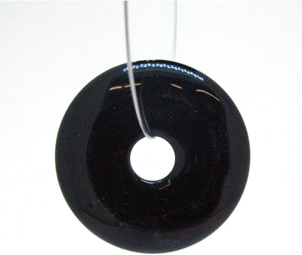 Donut Onix Grande para Colgante Minerales y Cristales, Belleza energética, Meditacion, Amuletos Espirituales