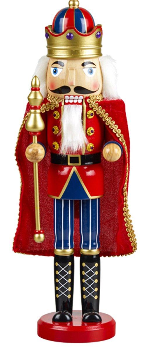 yanka-style 'Casse-noix Casse-Noisette Roi env. 38cm de haut en bois de couleur Décoration de Noël et de l'avent (92030–38K)