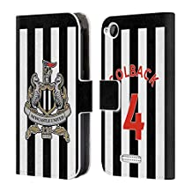 Official Newcastle United FC NUFC Jack Colback 2017/18 Players Home Kit Group 2 Leather Book Wallet Case Cover For HTC Desire 320