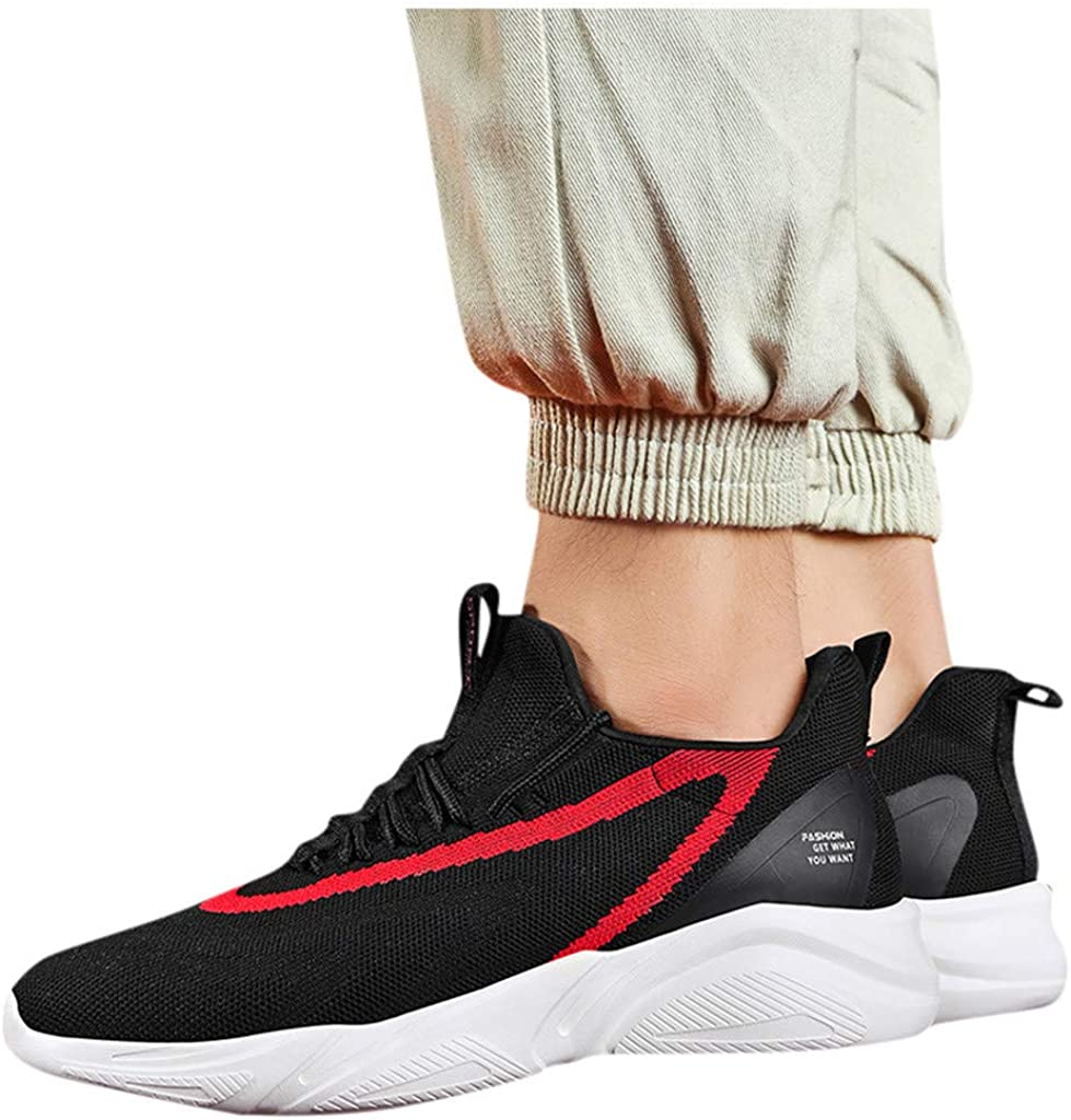 Mens Running Shoes Breathable Sneakers Soft Sole Casual Athletic Lightweight Walking Shoes