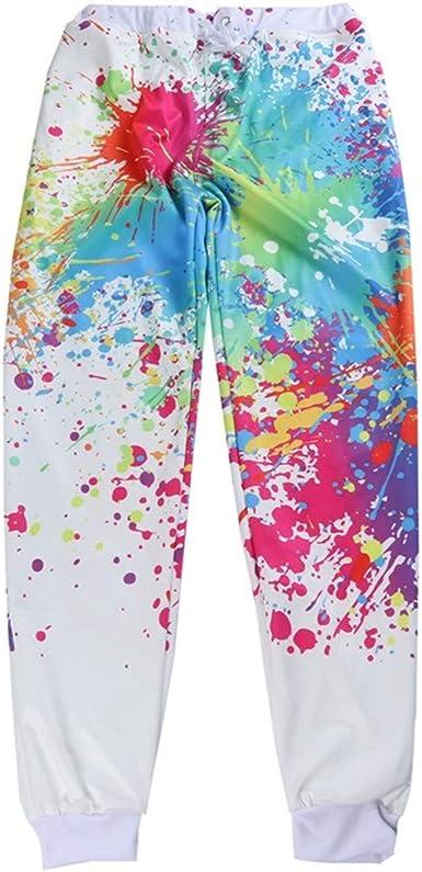Casual Mens Pants Sportswear Pantalones Graffiti Pintura Blanco ...