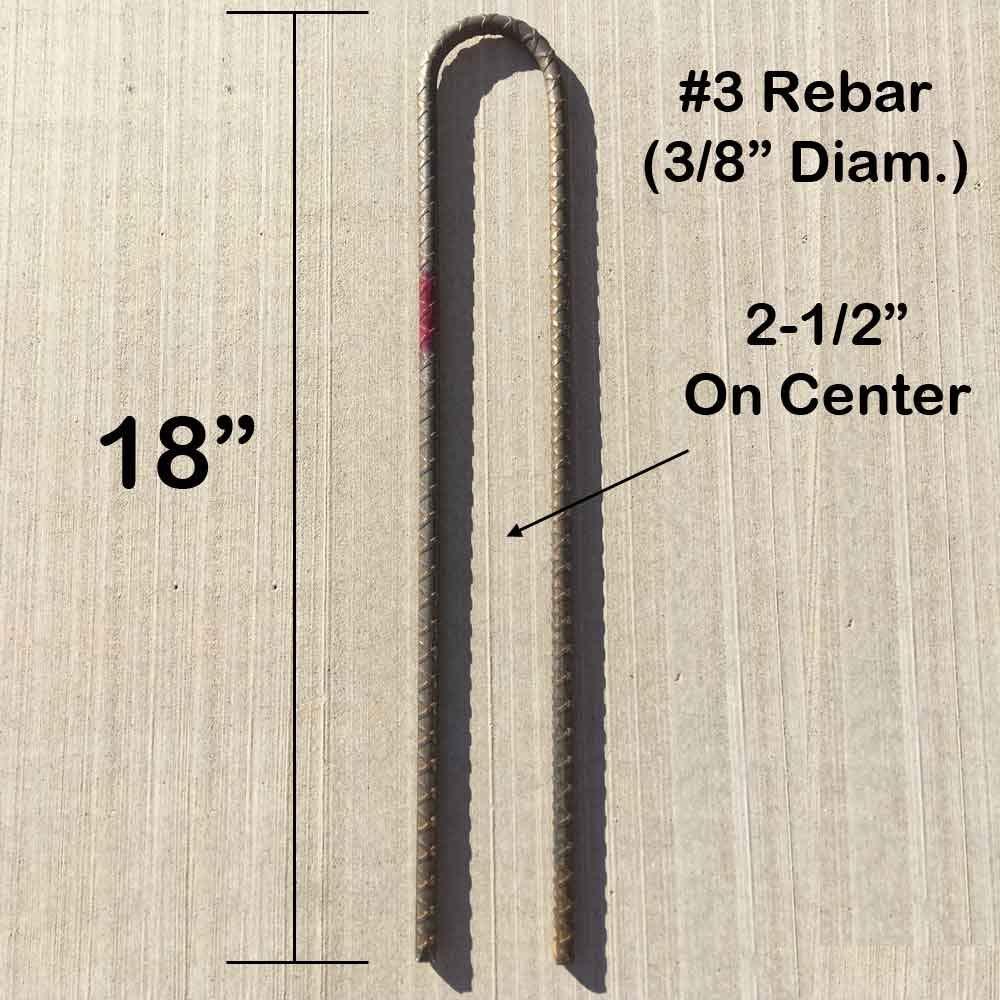 Garden Stakes J Hook Heavy Duty 3//8 Diam Steel Rebar 16 L x 2-1//2 W Pack of 10