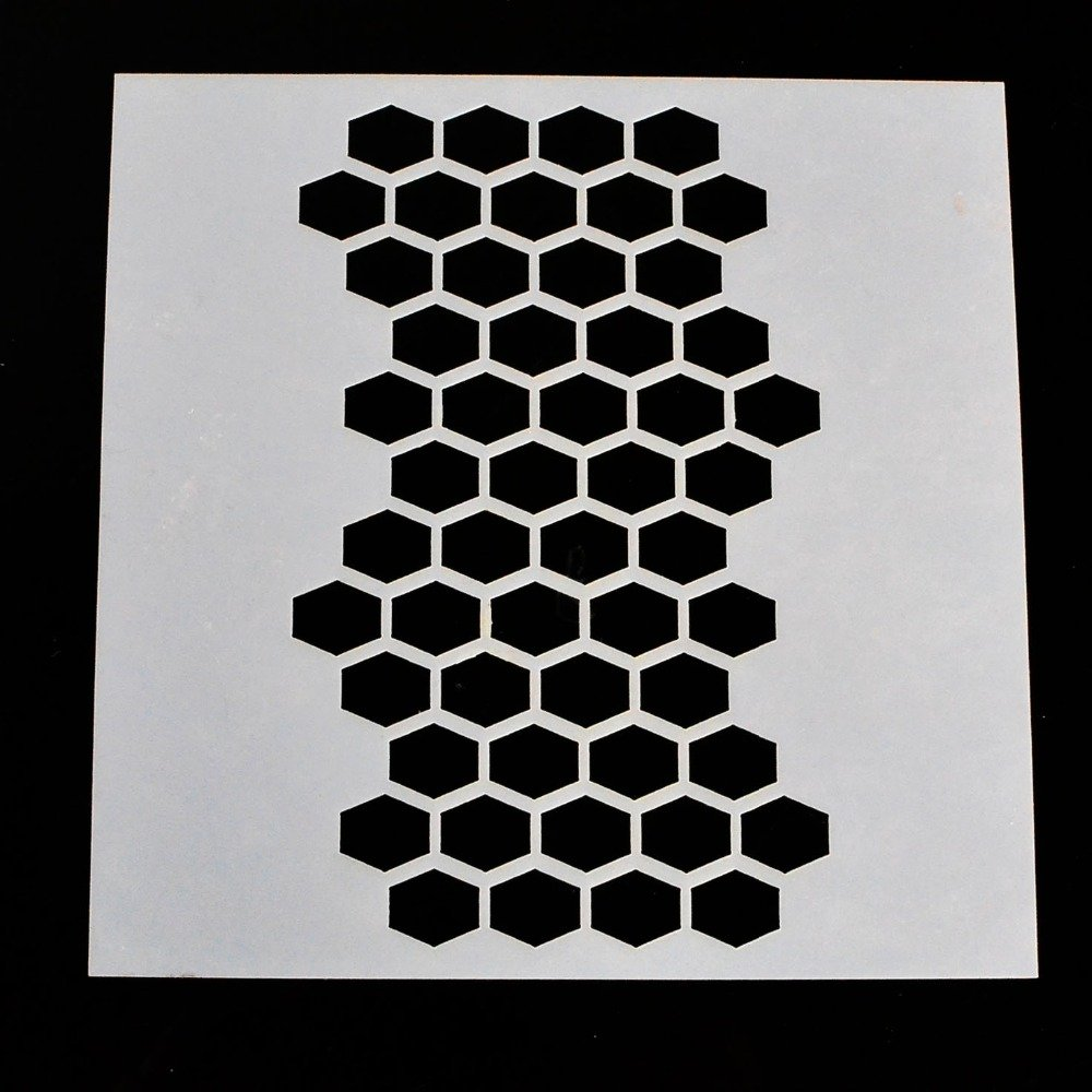 DIY Stencil for Scrapbooking Cardmaking Painting,Honeycomb