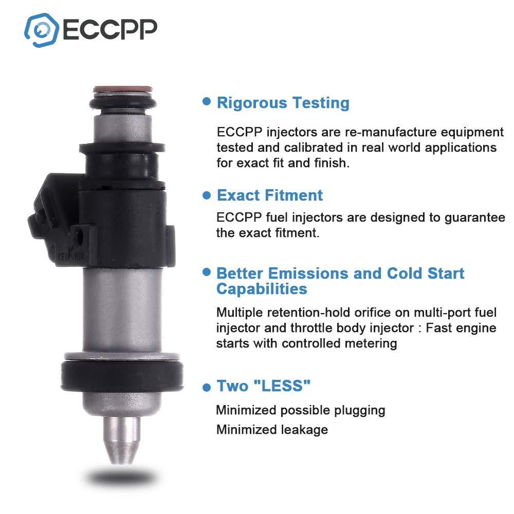 ECCPP Fuel Injectors 4pcs High Performance 1 Hole Fuel Injector Kits 06164PCA000 Fit for 1999 2000 2001 Honda CR-V 2.0L