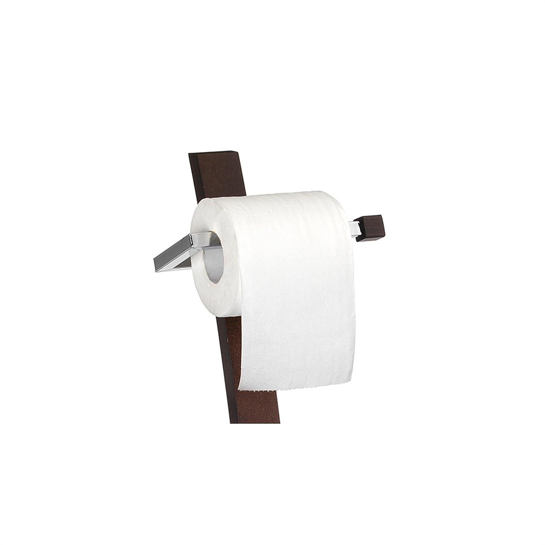 braun und verchromt CARO-M/öbel WC B/ürstengarnitur Katha Toilettenpapierhalter Papierrollenhalter WC Papierhalter inklusive Toilettenb/ürste