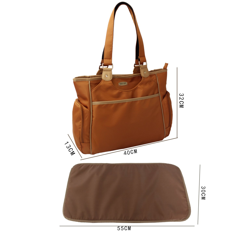 Brown, 403213CM Nylon Crossbody Shoulder Bag Waterproof Mummy Handbag with Multi Multifunction