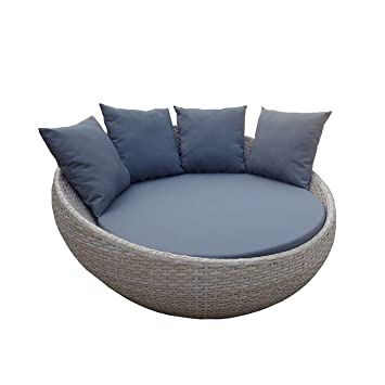 Amazon.de: OUTLIV. Liegeinsel Garten Antigua Gartenbett Polyrattan ...