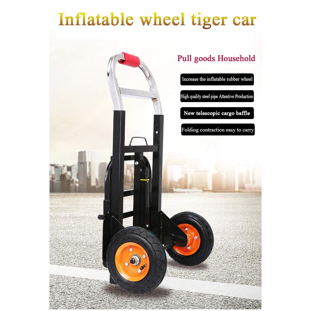48fdc0c8737c Amazon.com: LYXPUZI Tiger car inflatable wheel load king trolley ...