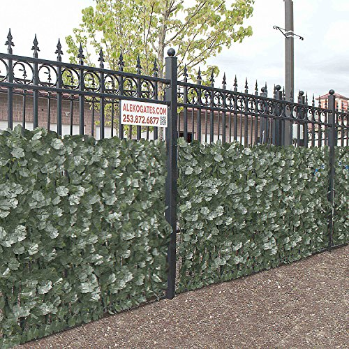 Aleko scrn94x39indg faux ivy privacy fence screen for Living screen fence