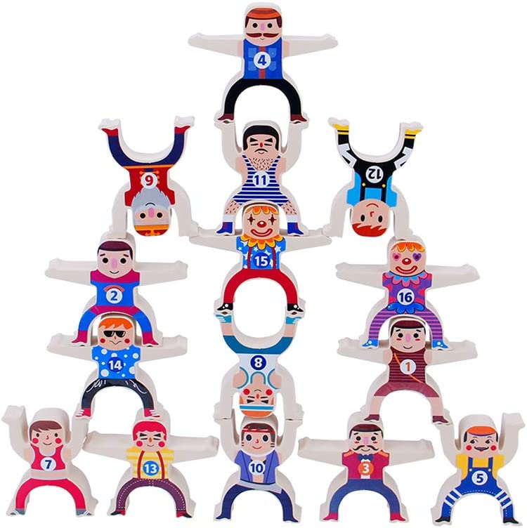 12pc Balance Toy Hercules Stacking Toys Childrens Educational Toys Develop Intellectual Toys Preschool Parent-Child Gifts Math Toys Computing Toy